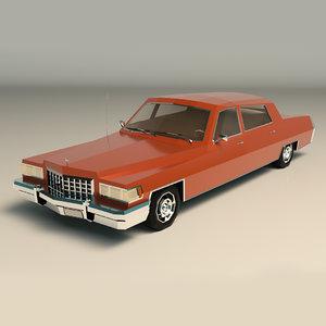 3D sedan car sed model