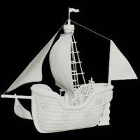 3D toon sailing ship model