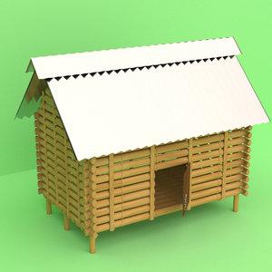 bambo chicken house model