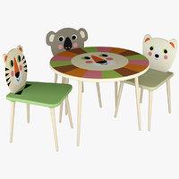 Vilac Kids Furniture Chair Table