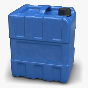 blue plastic fuel contains 3D