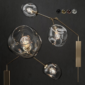 3D branching bubble wall lamp