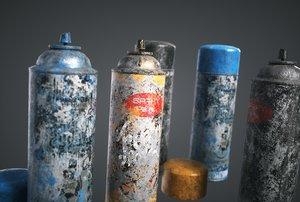 3D spray paint pack model