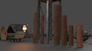 stylized tavern pack scene 3D model