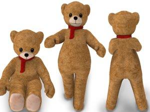 humansize rigged teddy bear 3D
