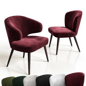 aston chair minotti 3D model