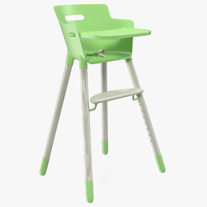 3D baby dining highchair model