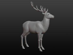 deer base mesh 3D model