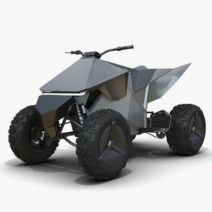 3D tesla cyberquad model