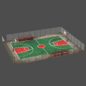 3D court ball basketball