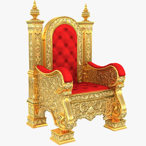 3D kings throne chair model