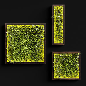 vertical decor moss 3D