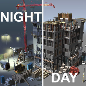maya construction night day