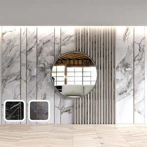 3D marble wall panels model