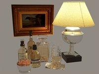 3D model decor whiskey art
