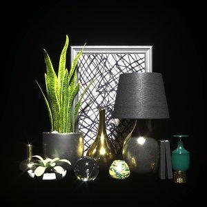 3D vase decor art model