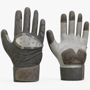 3D american gloves football