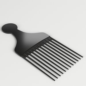 3D model hair pick comb