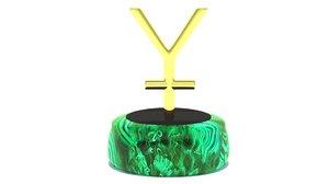 yuan sign corona 3D model