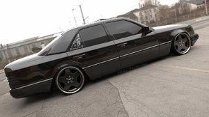 mercedes w124 sedan 3D model