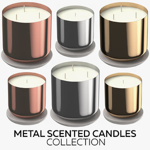 3D metal scented candles