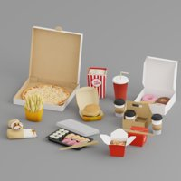 takeaway food 3D model