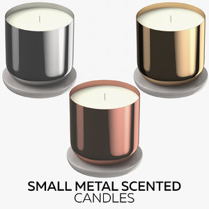 3D small metal scented candles