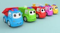 Cartoon car construction vehicles