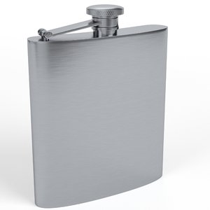 3D hip flask model