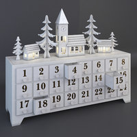 wooden advent calendar drawers model