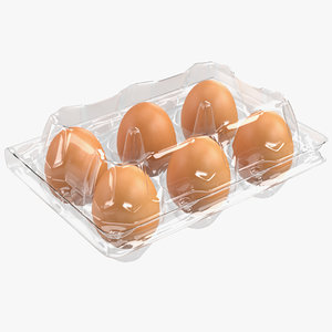 3D model plastic egg package