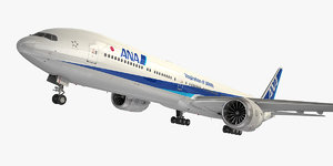 3D model boeing 777-9 aircraft nippon