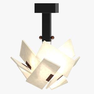 3D model boule ceiling lamp