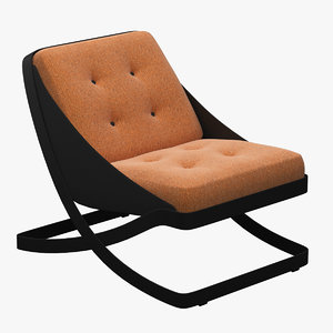 carlo colombo lounge chair 3D model
