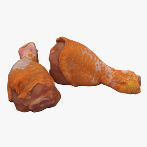 3D chicken drumsticks