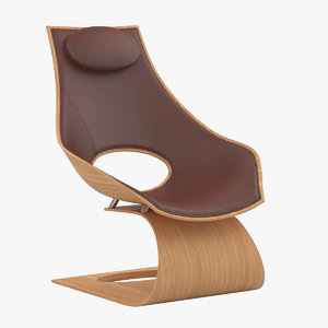 3D carl hansen dream chair wood