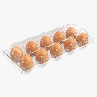 plastic egg package 3D model