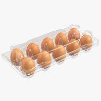 3D plastic egg package