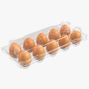 3D plastic egg package