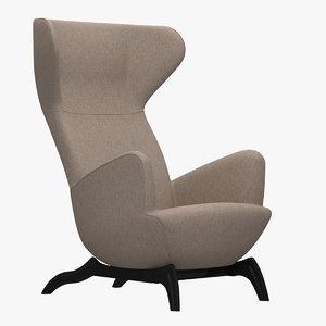 3D carlo mollino chair model