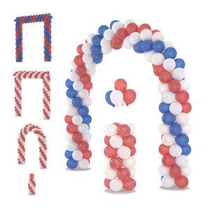 3D balloon arches model