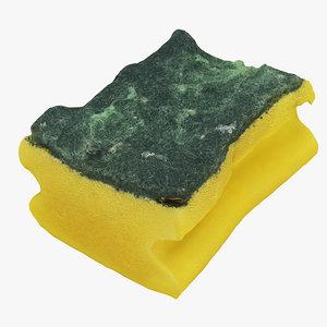 3D used sponge