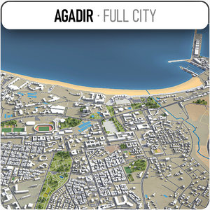 agadir surrounding - 3D model