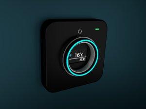 3D thermostat designed minimal
