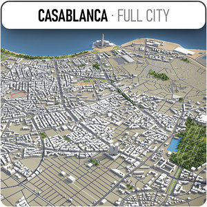 casablanca surrounding - 3D model