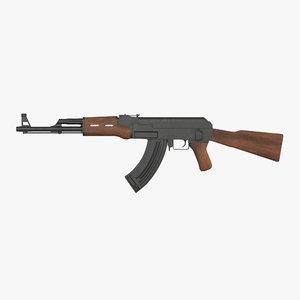 3D model assault rifle