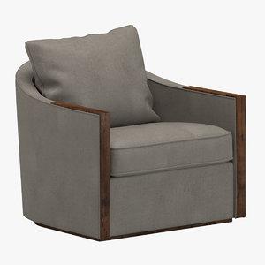 madrid swivel chair dennis 3D model