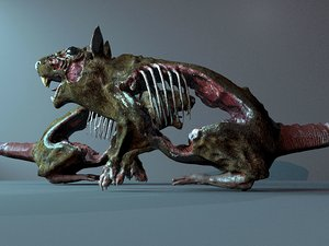 hungry rat zombie 3D model