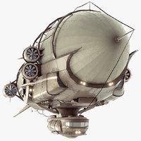 Steampunk Multi-Functional Airship