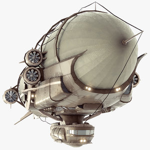 steampunk airship - model